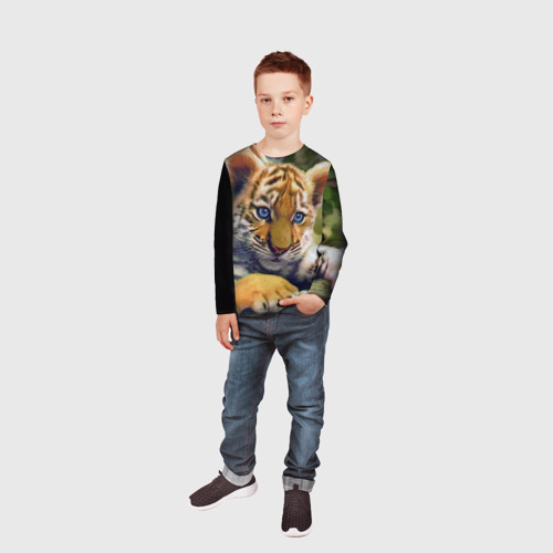Детский лонгслив 3D Тигренок Фото 01