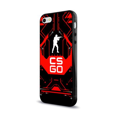 Чехол для Apple iPhone 5/5S силиконовый глянцевый CS:GO Фото 01