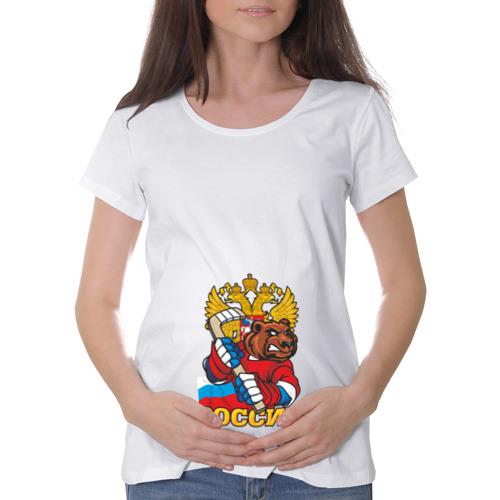 Футболка для беременных хлопок  Фото 01, Хоккей! Россия вперед!