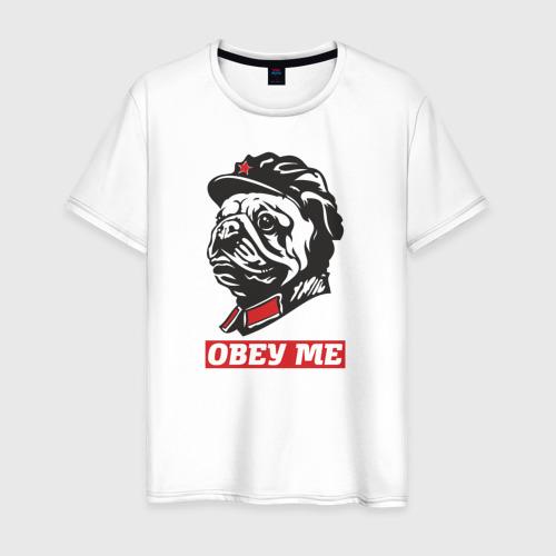 Мужская футболка хлопок Obey me. Подчиняйся мне!