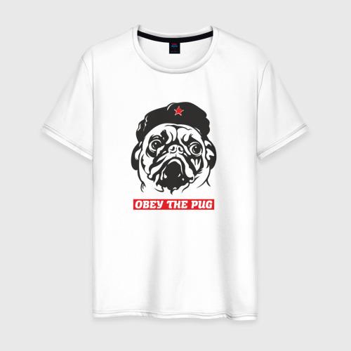 Мужская футболка хлопок Obey the pug