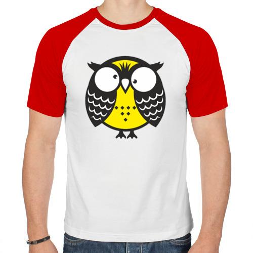 Мужская футболка реглан  Фото 01, Сумашедшая сова