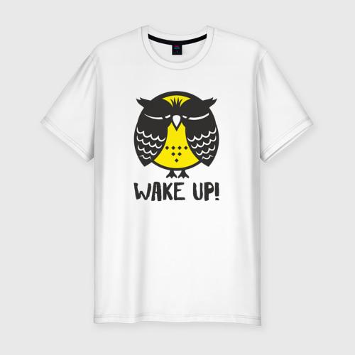 Мужская футболка премиум  Фото 01, Owl. Wake up!