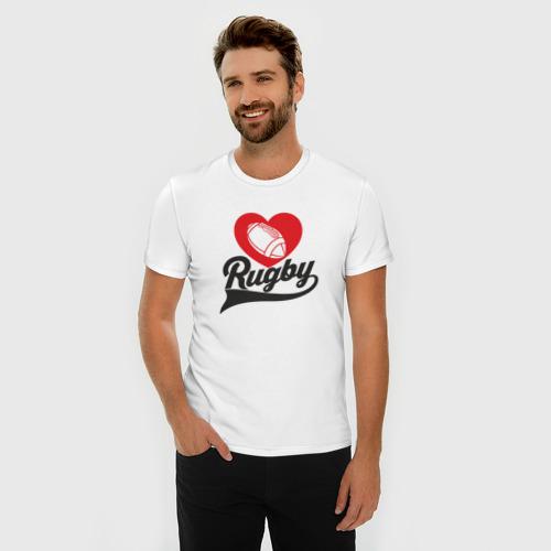 Мужская футболка премиум  Фото 03, Rugby. Рэгби.