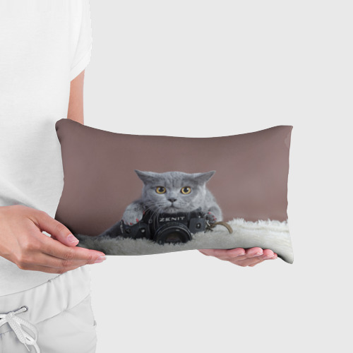 Подушка 3D антистресс Котик фотограф Фото 01