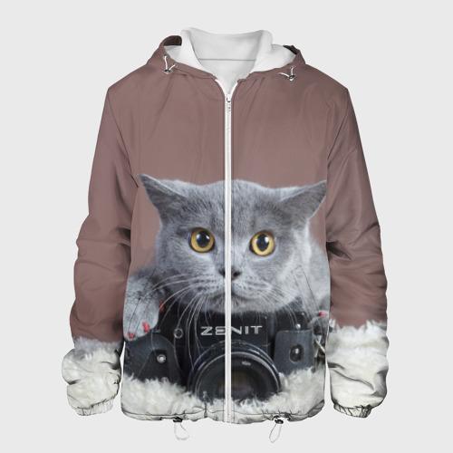 Мужская куртка 3D  Фото 01, Котик фотограф