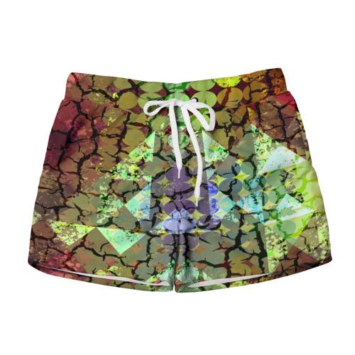 Женские шорты 3D  Фото 01, Мозаика