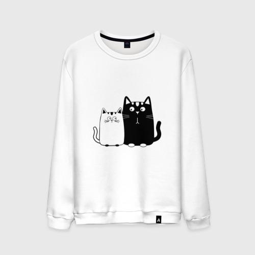 Мужской свитшот хлопок  Фото 01, Влюбленные коты