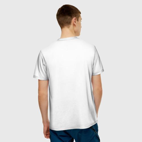 Мужская футболка 3D  Фото 02, Белый волк