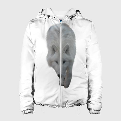 Женская куртка 3D  Фото 01, Белый волк