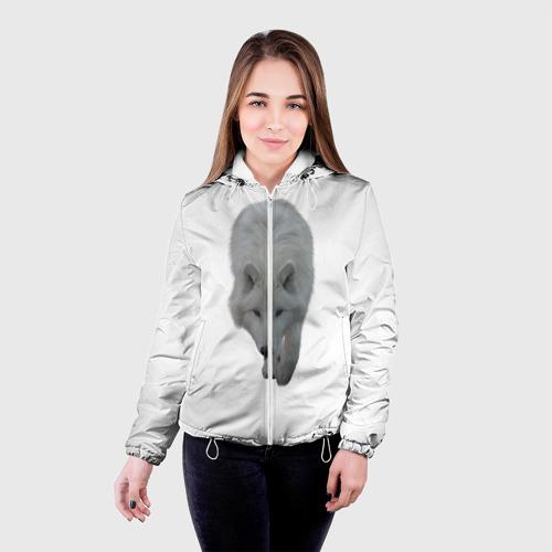 Женская куртка 3D  Фото 03, Белый волк