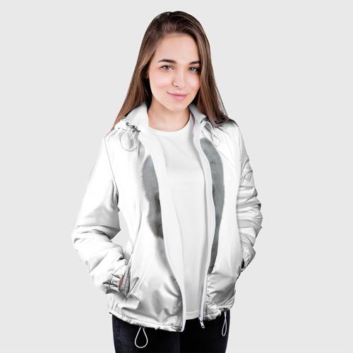 Женская куртка 3D  Фото 04, Белый волк
