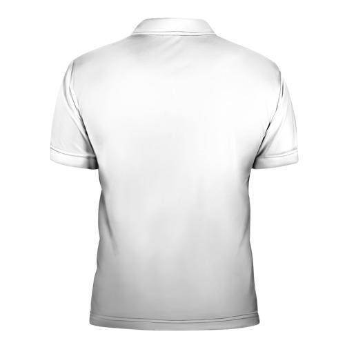 Мужская рубашка поло 3D  Фото 02, Белый волк