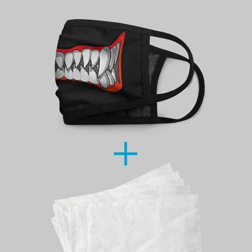 Маска защитная (+5 фильтров) Зубы монстра Фото 01