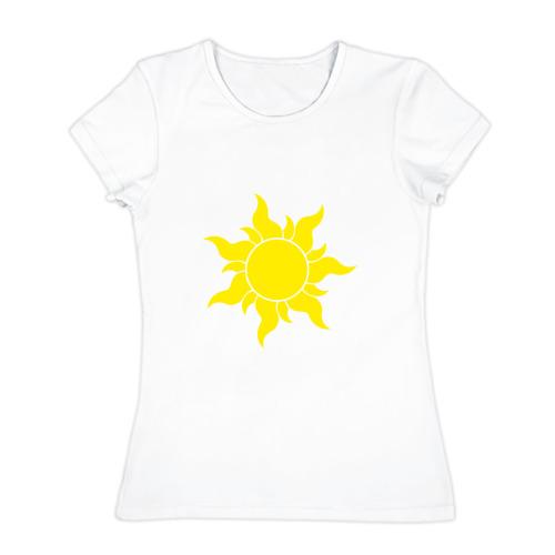 Женская футболка хлопок  Фото 01, Солнце