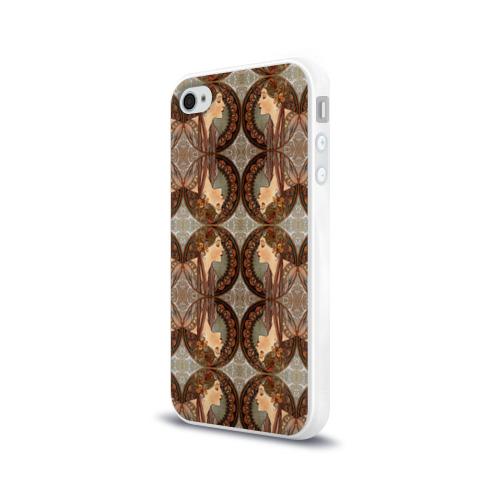 Чехол для Apple iPhone 4/4S силиконовый глянцевый  Фото 03, Alphonse Maria Mucha