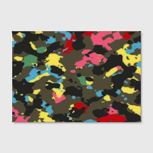 Холст прямоугольный  Фото 02, Цветной камуфляж