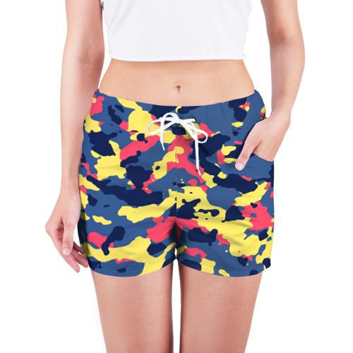 Женские шорты 3D  Фото 03, Разноцветный камуфляж