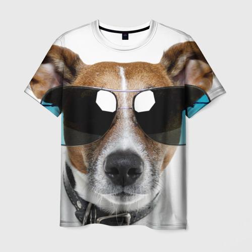 Мужская футболка 3D  Фото 03, Джек Рассел в очках