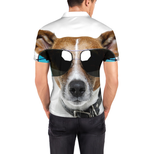 Мужская рубашка поло 3D  Фото 04, Джек Рассел в очках