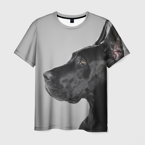 Мужская футболка 3D  Фото 01, Черненый дог