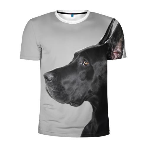 Мужская футболка 3D спортивная  Фото 01, Черненый дог