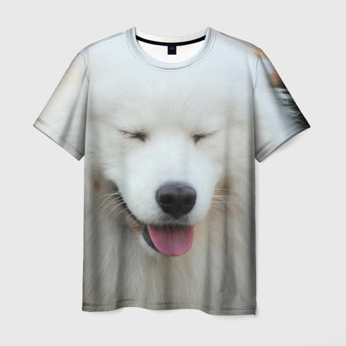 Мужская футболка 3D Самоед
