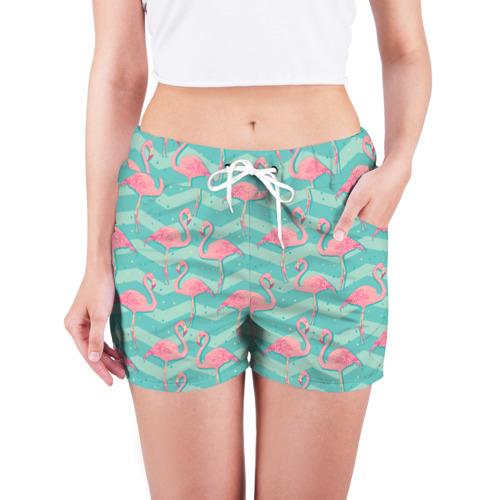 Женские шорты 3D  Фото 03, flamingo