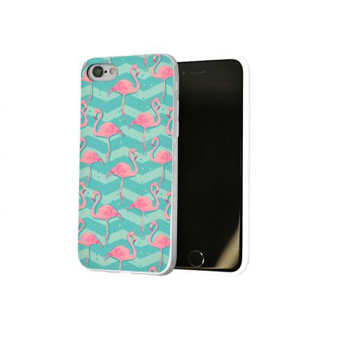 Чехол для Apple iPhone 8 силиконовый глянцевый  Фото 02, flamingo
