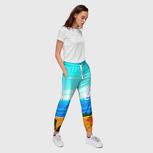 Женские брюки 3D  Фото 03, Тропики