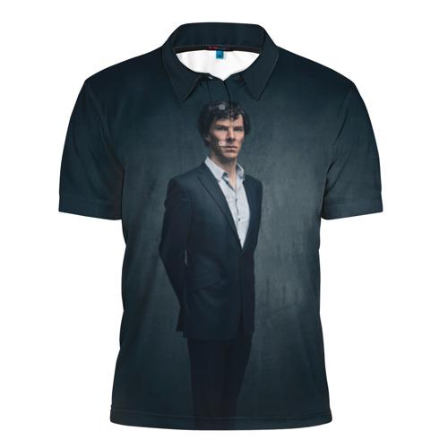 Мужская рубашка поло 3D  Фото 01, Шерлок