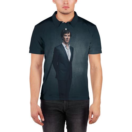 Мужская рубашка поло 3D  Фото 03, Шерлок