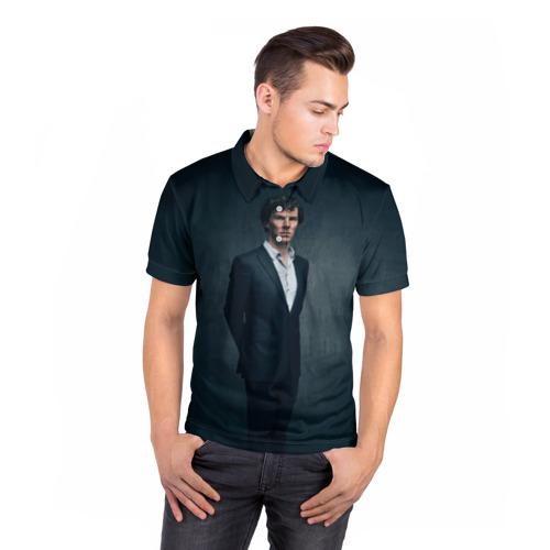 Мужская рубашка поло 3D  Фото 05, Шерлок