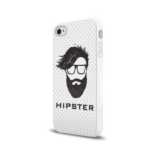 Чехол для Apple iPhone 4/4S силиконовый глянцевый Hipster Фото 01