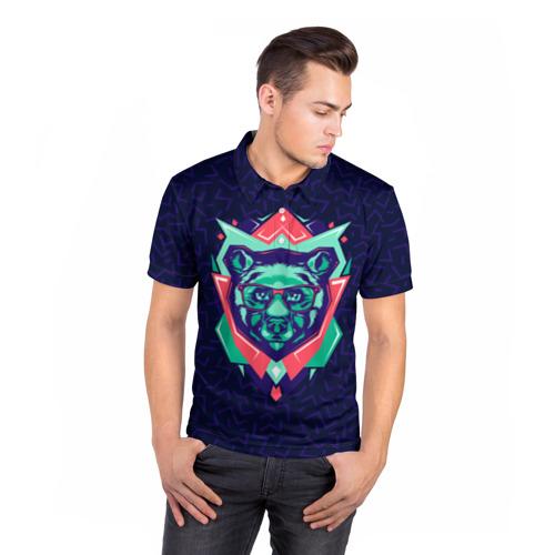 Мужская рубашка поло 3D  Фото 05, Hipster Bear