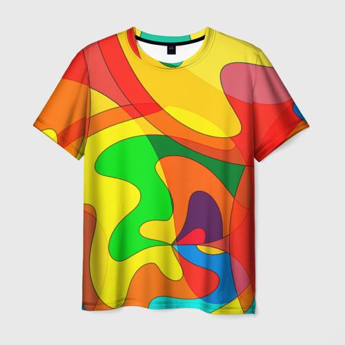 Мужская футболка 3D  Фото 01, Абстракция
