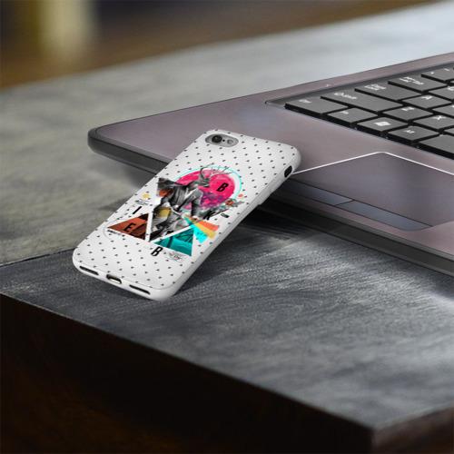 Чехол для Apple iPhone 8 силиконовый глянцевый  Фото 03, Олень почтальон