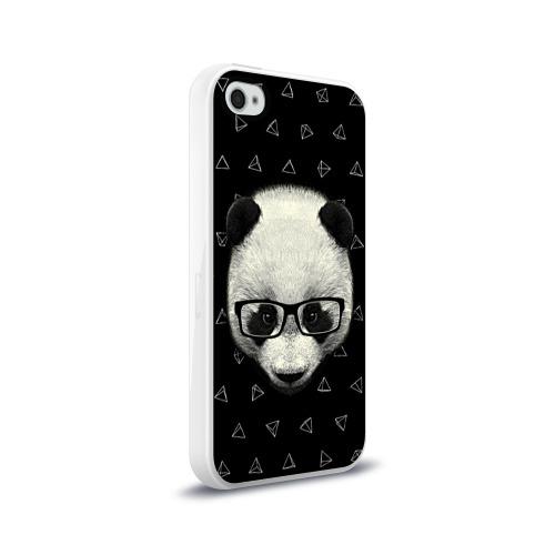 Чехол для Apple iPhone 4/4S силиконовый глянцевый  Фото 02, Умная панда
