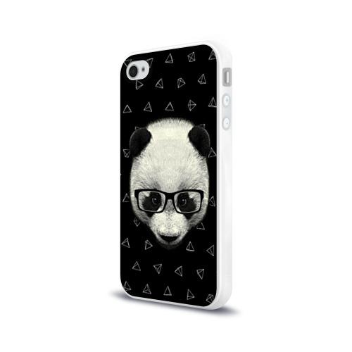 Чехол для Apple iPhone 4/4S силиконовый глянцевый  Фото 03, Умная панда