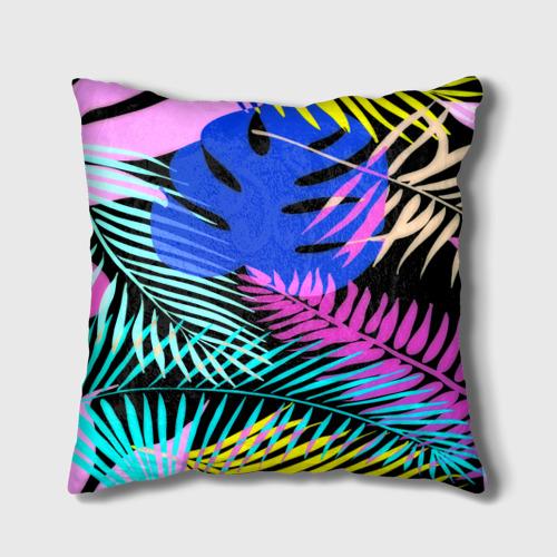 Подушка 3D  Фото 01, Тропические листья