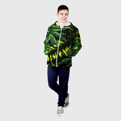 Мужская куртка 3D  Фото 03, Листья