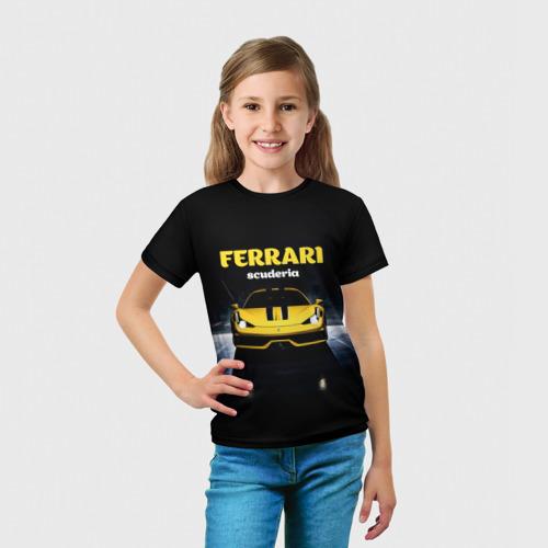 Детская футболка 3D  Фото 03, Scuderia Ferrari
