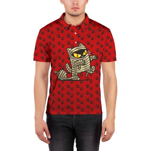 Мужская рубашка поло 3D  Фото 03, Кот мумия