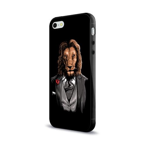 Чехол для Apple iPhone 5/5S силиконовый глянцевый Мистер Лев Фото 01