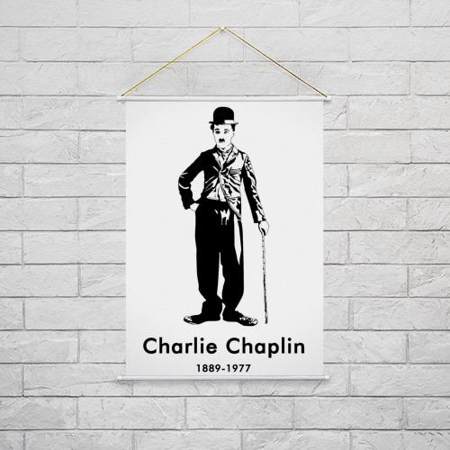 Тканевый плакат  Фото 02, Чарли Чаплин