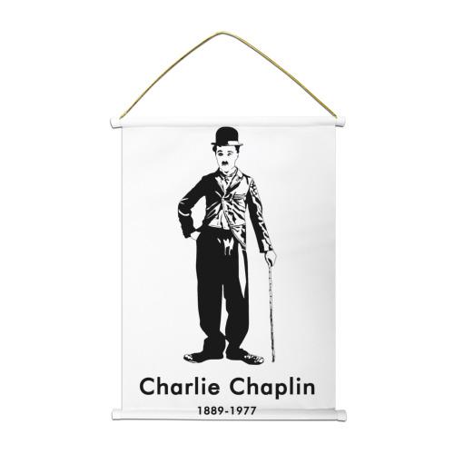 Тканевый плакат  Фото 01, Чарли Чаплин