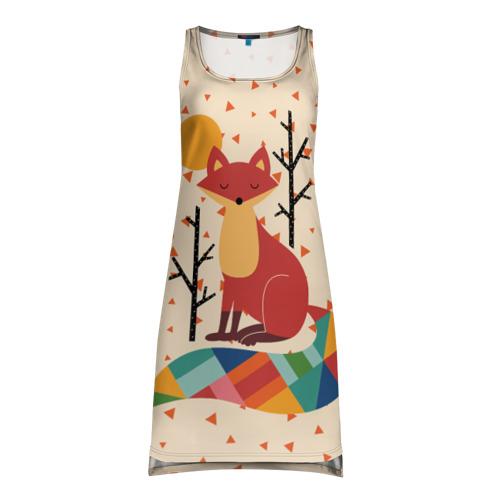 Платье-майка 3D Осенняя лисичка