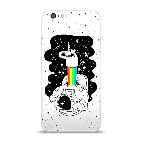 Чехол для Apple iPhone 6 силиконовый глянцевый  Фото 01, Единорог астронавт