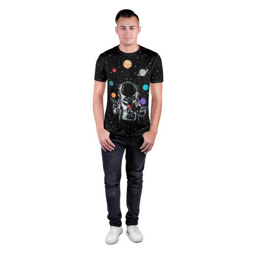 Мужская футболка 3D спортивная  Фото 04, Космический жонглер