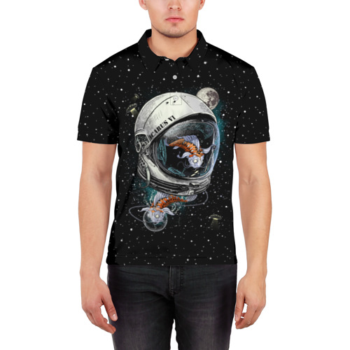 Мужская рубашка поло 3D  Фото 03, Подводный космос